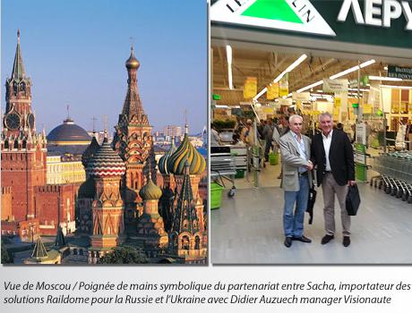 partenariat avec le marché russe de la vidéosurveillance